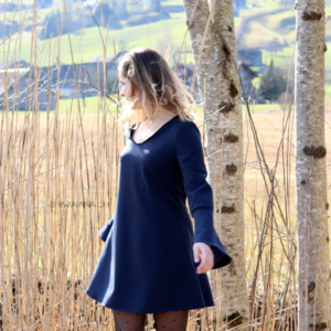 dress with the oversized sleeves6
